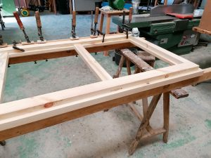 fabricando la estructura de la cama nido