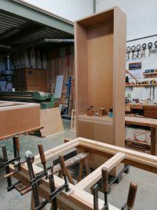 Fabricación de librería de haya
